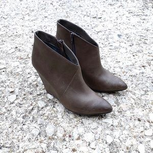 SEYCHELLES 'Impatient' pointed toe wedge booties